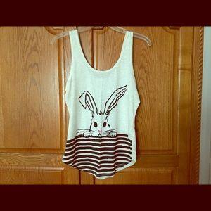 Peek-a-boo rabbit tank top
